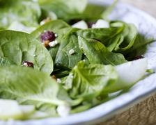 Spinach salad - stock photo