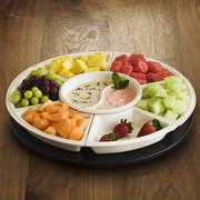 Fresh Fruit Platter with Dipping Saues - stock photo