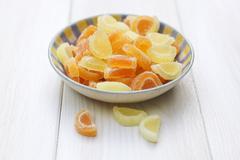 Candied citrus fruit Stock Photos