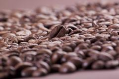 French Roast Whole Coffee Beans Stock Photos
