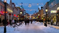 Winter shopping time-lapse - stock footage