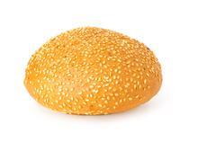 sesame seed bun - stock photo