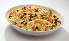 Risotto zafferano e frutti di mare (seafood risotto) Stock Photos