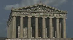 Pathenon West View Stock Footage