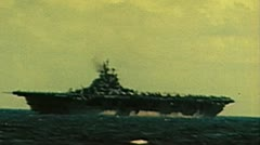 WW2 - ColorFootage - Carrier in pacific Stock Footage