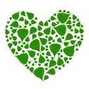 Green heart Stock Photos