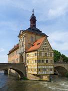 altes rathaus, bamberg - stock photo