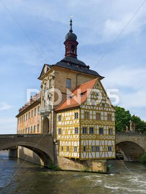 Stock photo of altes rathaus, bamberg