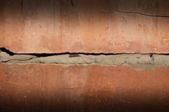 burnt brick as background - stock photo