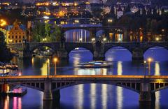 Prague at night Stock Photos