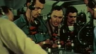 WW2 - ColorFootage - US carrier command center Stock Footage
