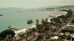 Shot of the Riviera of Cannes, France Stock Footage