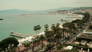 Stock Video Footage of Shot of the Riviera of Cannes, France