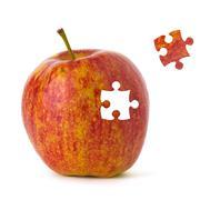 puzzle apple - stock illustration