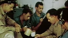 WW2 - ColorFootage - soldiers spare time on carrier Stock Footage