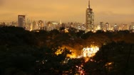 Stock Video Footage of Time lapse - Sao Paulo - Afternoon to Night.