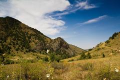 beautiful mountains in kazakhstan - stock photo