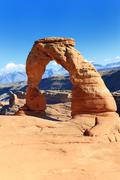 Delicate arch, arches national park, utah Stock Photos