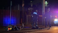 Stock Video Footage of Motorcycle accident and police officers