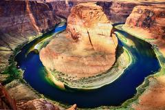 famous horse shoe bend - stock photo