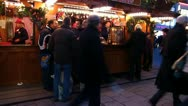 Europe German Christmas Advent Fair Market Xmas Stock Footage