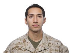Stock Photo of Hispanic Military Man