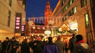 Europe German Christmas Advent Fair Market Xmas Stock Footage