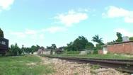 Trinidad, old steam train, panshot Stock Footage