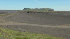 Iceland Sandur and bridge 2 Stock Footage
