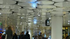 Europe Germany Christmas Advent Xmas shopping mall arcade Stock Footage