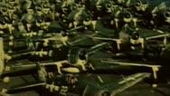 WW2 - ColorFootage - TBF avangers on carrier flight deck Stock Footage