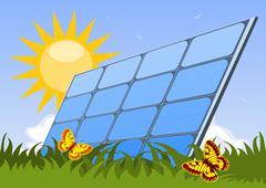 Solar panel - stock illustration