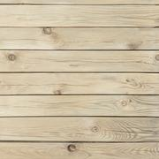 pine wooden texture with knots and cracks - stock photo
