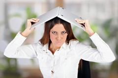 Frustrated businesswoman  Stock Photos