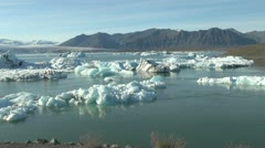 Iceland Jokulsarlon ice floes zoom Stock Footage