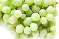 Ripe juicy green grapes Stock Photos
