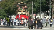 Stock Video Footage of Camera crew films Japanese parade during festival