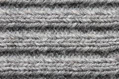 Stock Photo of gray knitted fabric background