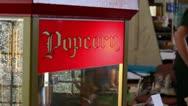 Old Fashioned Popcorn Machine Stock Footage