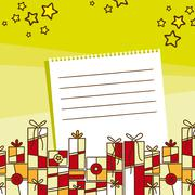Holiday wishes with gifts illustration Stock Illustration