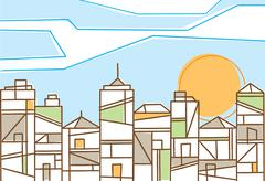 fresh design of a contemporary city - stock illustration