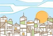 Stock Illustration of fresh design of a contemporary city