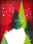 Modern christmas greetings card Stock Illustration