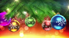 Christmas tree and decorations loop - stock footage