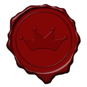 King crown wax seal Stock Illustration