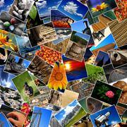 Photo collage Stock Photos