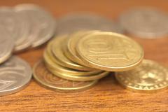 Stock Photo of coins tenge. macro