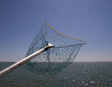 Net for catching fish Stock Photos