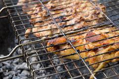 Stock Photo of barbecue outdoors
