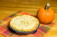 Stock Photo of turkey pot pie with pumpkin